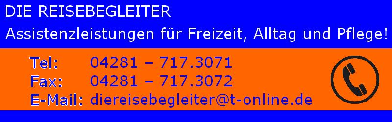 DIE REISEBEGLEITER – Assistenzleistungen für Freizeit, Alltag und Pflege!
